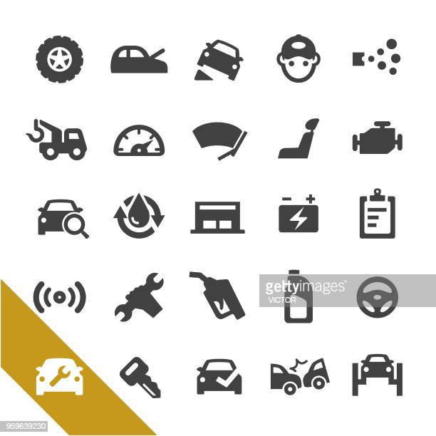 auto repair shop icons - select series - fuel pump stock illustrations, clip art, cartoons, & icons