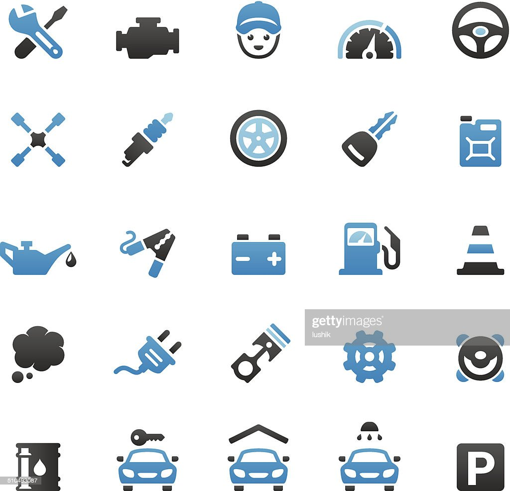 Auto Repair Shop icons set