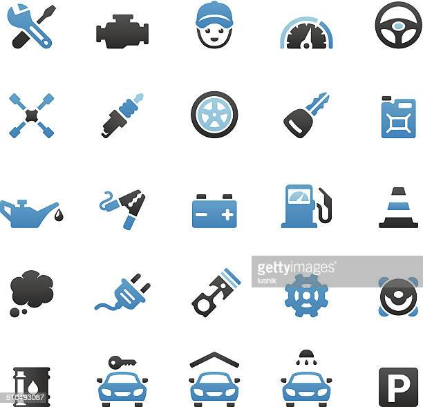 Auto Repair Shop icons set
