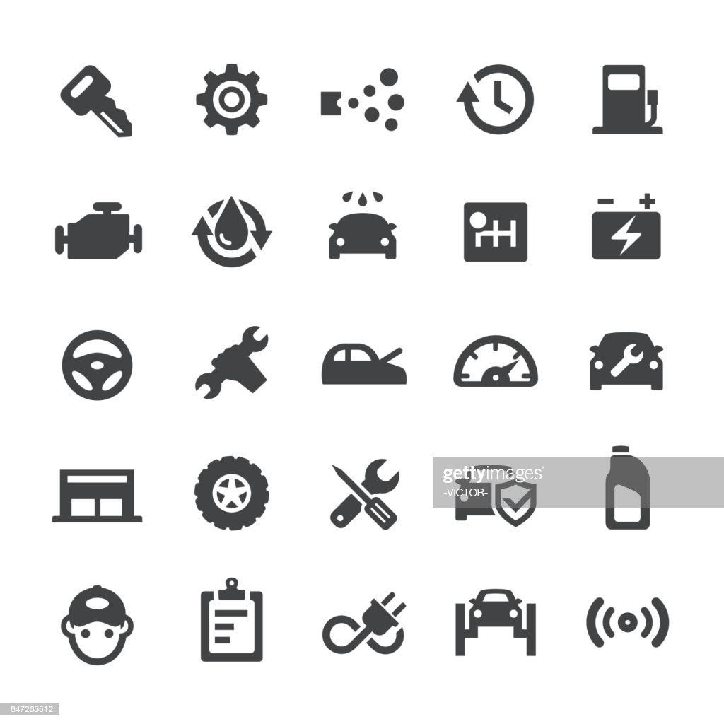 Auto Repair Shop Icons - Smart Series : stock illustration
