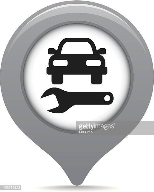Auto repair shop map pointer