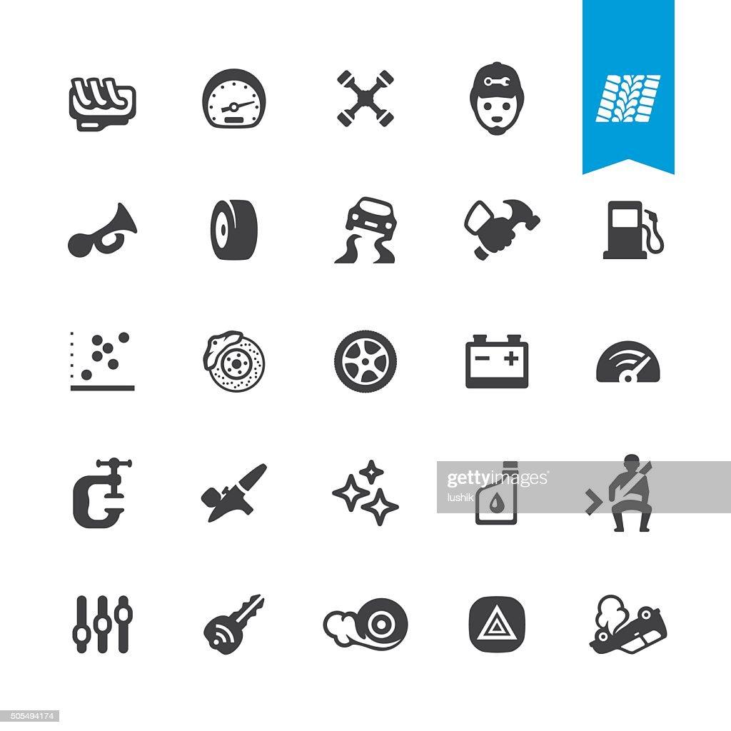 Auto Repair Shop vector icons : stock illustration