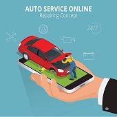Auto repairing online concept