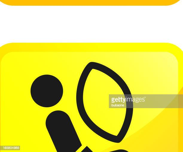 Auto Safety and Car Crash Test vector icon set stickers