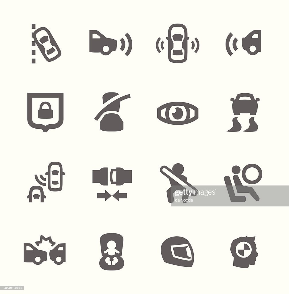 Auto safety icons