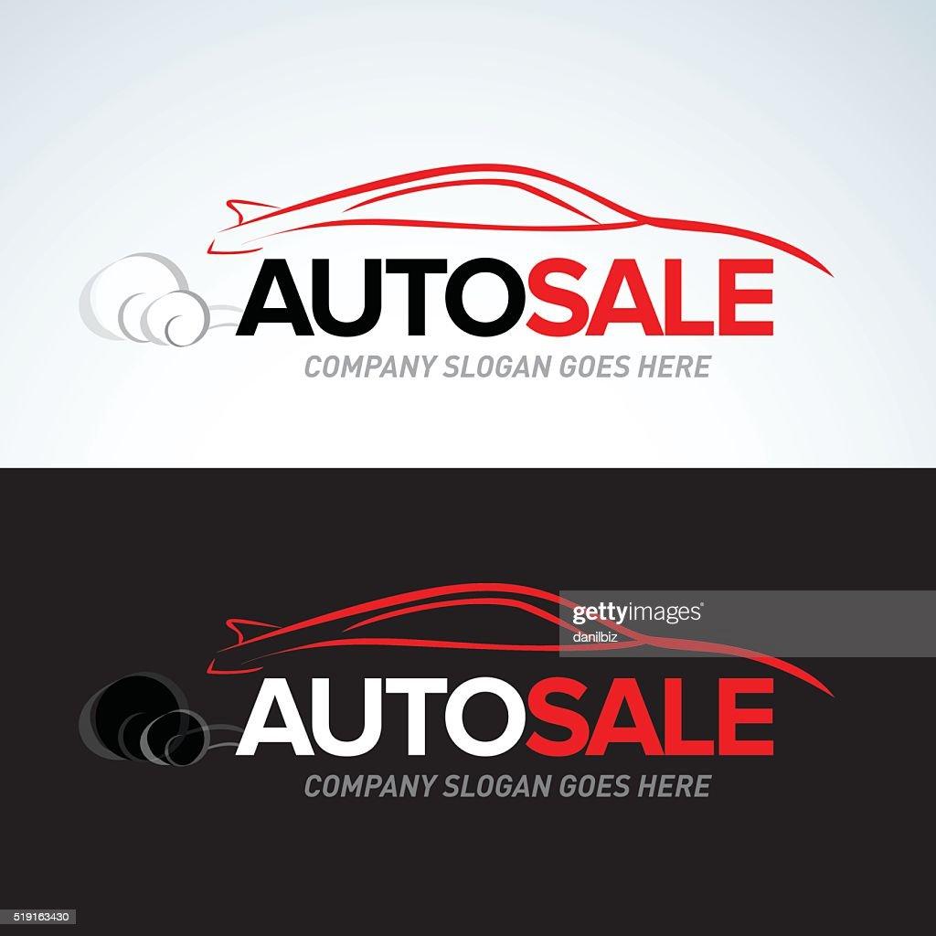 Auto sale car service emblem template