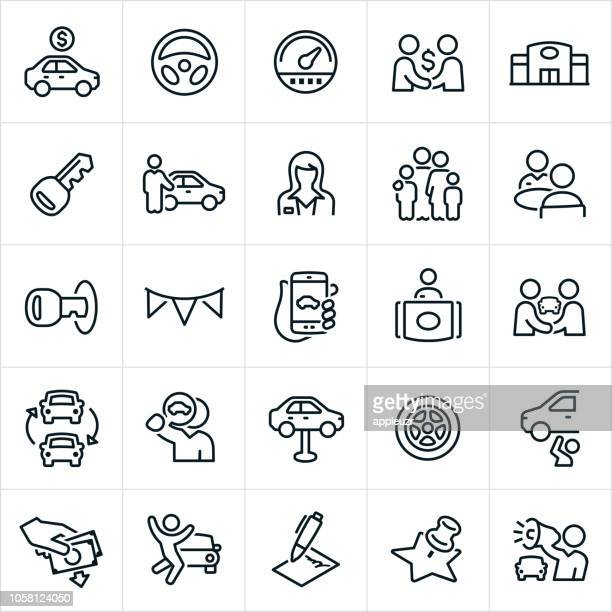 auto sales icons - car stock illustrations, clip art, cartoons, & icons
