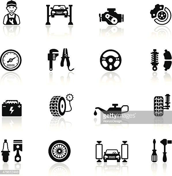 auto service icon set - elevator stock illustrations, clip art, cartoons, & icons