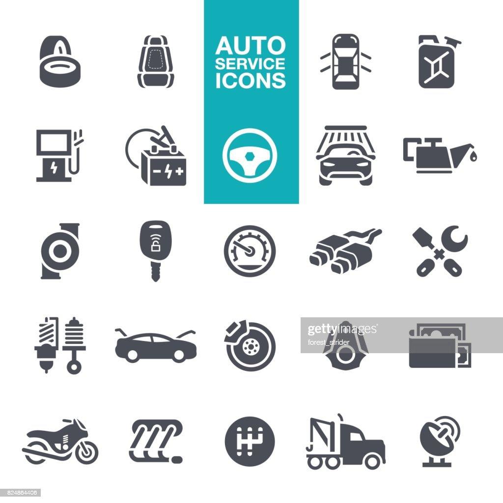 Auto service icons : stock illustration
