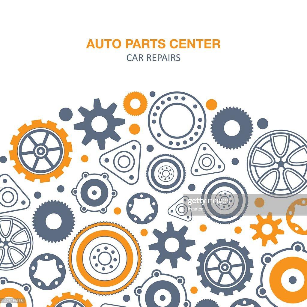 Auto spare parts background