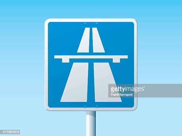 Autobahn deutsche Road Sign
