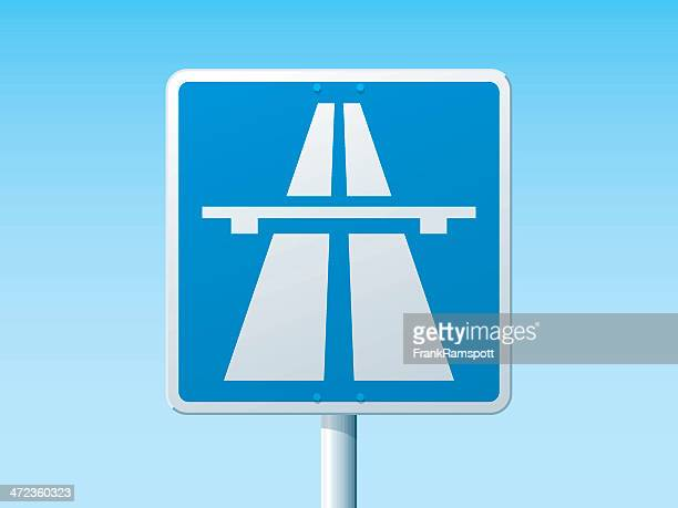 autobahn deutsche road sign - frankramspott stock-grafiken, -clipart, -cartoons und -symbole