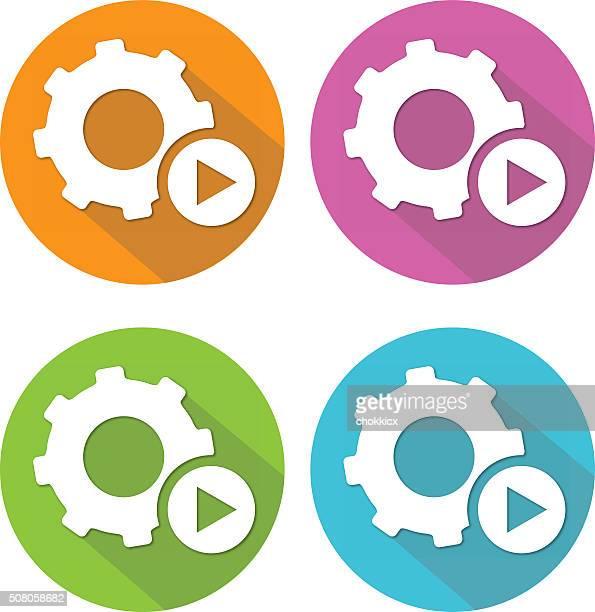 Automated Flat Icon Set