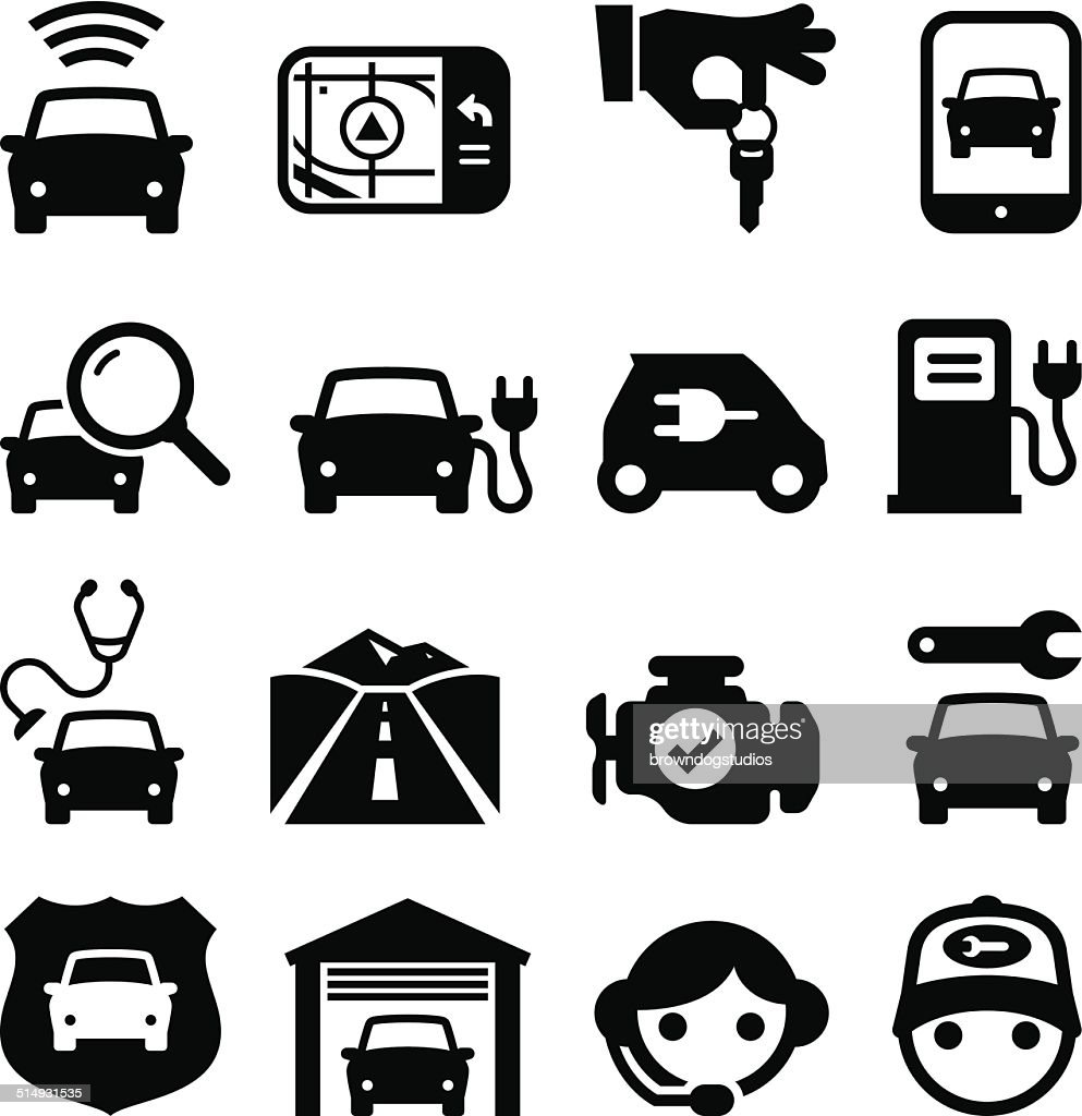Automobile Icons - Black Series