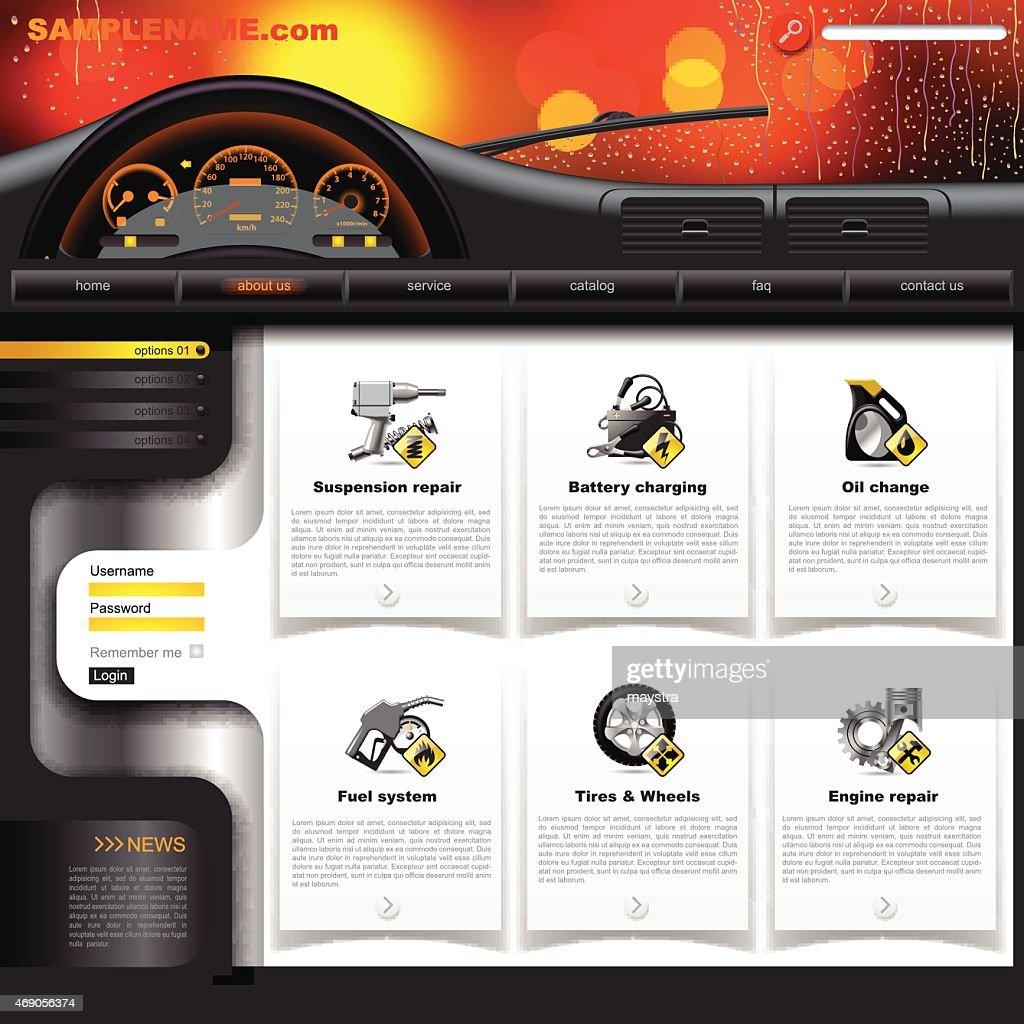 Automobile Service Website Template