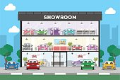 Automobile showroom building.