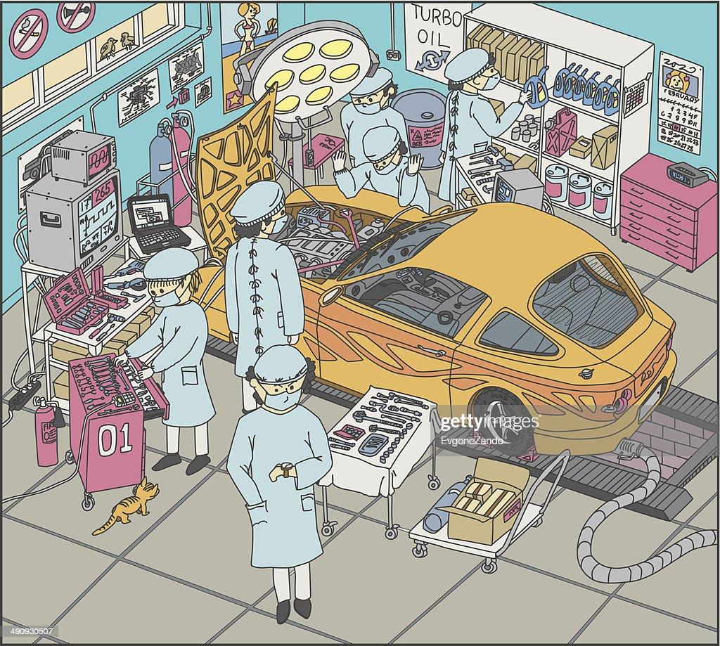 Automobile Surgery Room