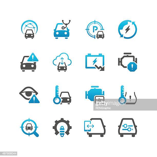 automobile technology icons - power outage stock illustrations, clip art, cartoons, & icons