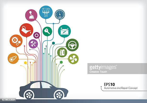 automotive concept - gearshift stock illustrations, clip art, cartoons, & icons