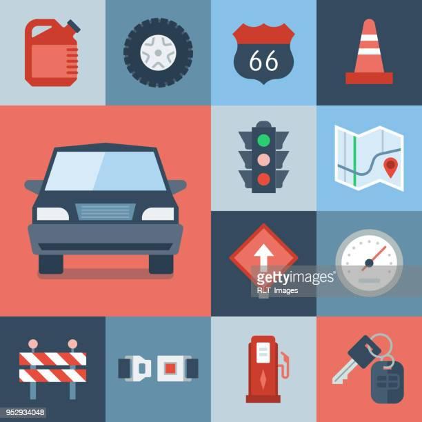 stockillustraties, clipart, cartoons en iconen met automotive icon set — raster serie - fuel pump