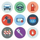 Automotive Icons 1 — Circle Series
