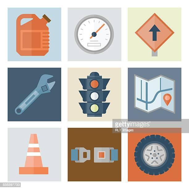 Automotive Icons 2 — Flat Series