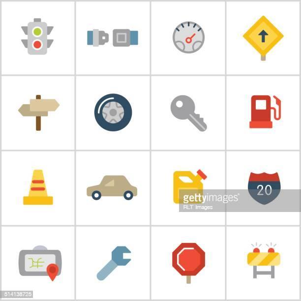 automotive icons — poly series - fuel pump stock illustrations, clip art, cartoons, & icons