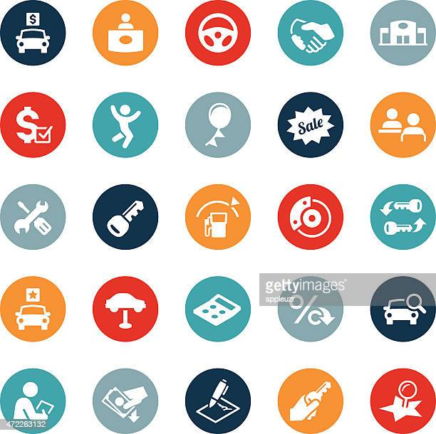 automotive industry icons - car salesperson stock illustrations, clip art, cartoons, & icons