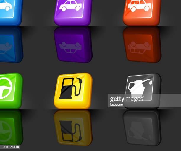 automotive internet royalty free vector icon set
