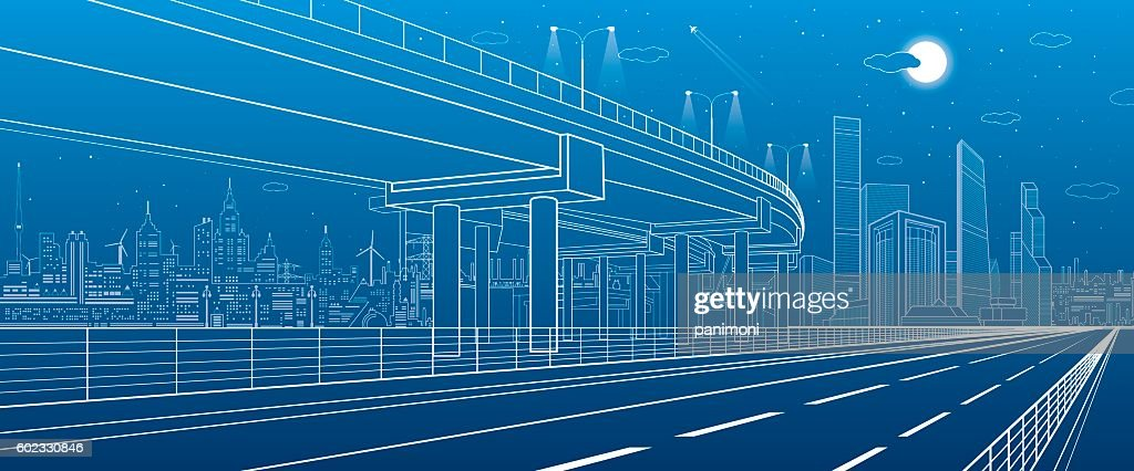Automotive isolation, architectural and infrastructure illustration