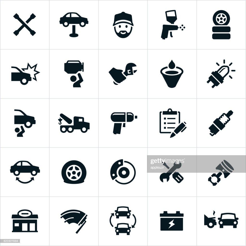Automotive Repair Icons : stock illustration