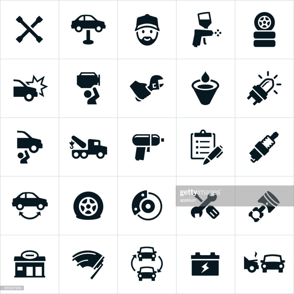 Automotive Repair Icons