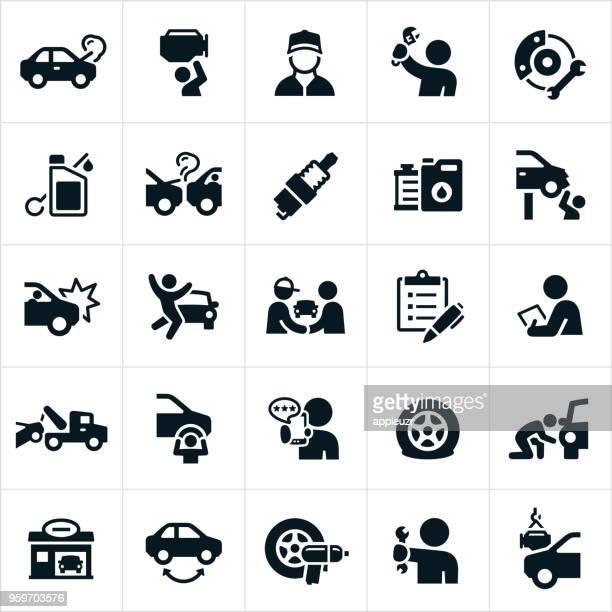 Kfz Reparatur Symbole