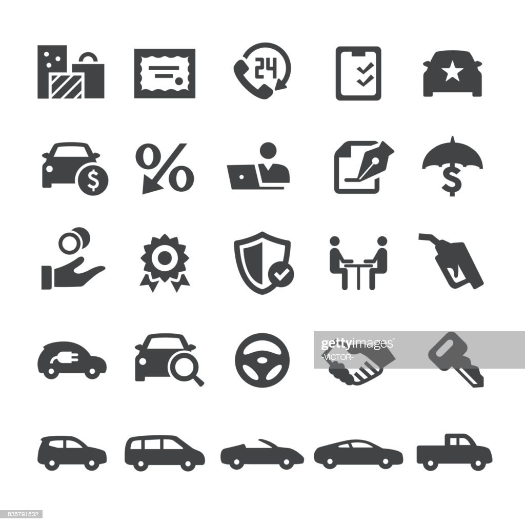 Automotive Sales Icons - Smart Series
