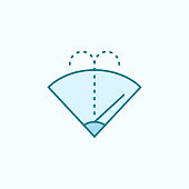 automotive washer field outline icon. Element of drip watering icon. Thin line icon for website design and development, app development. Premium icon
