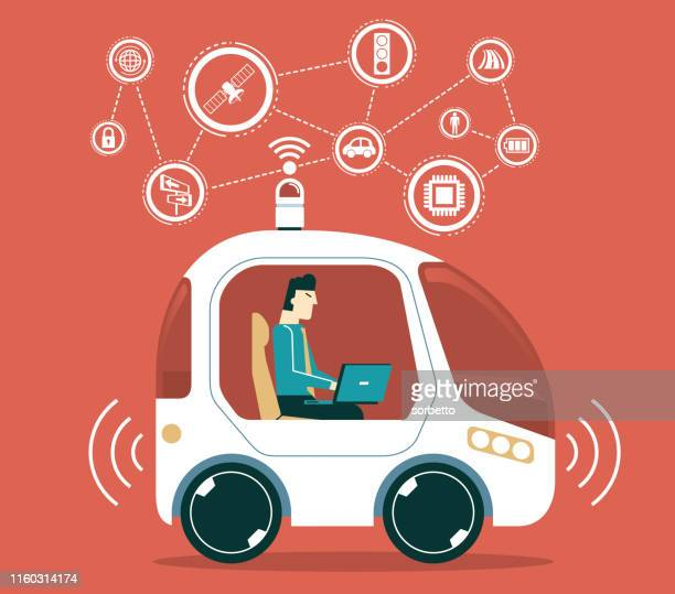 autonomous car - runaway vehicle stock illustrations, clip art, cartoons, & icons