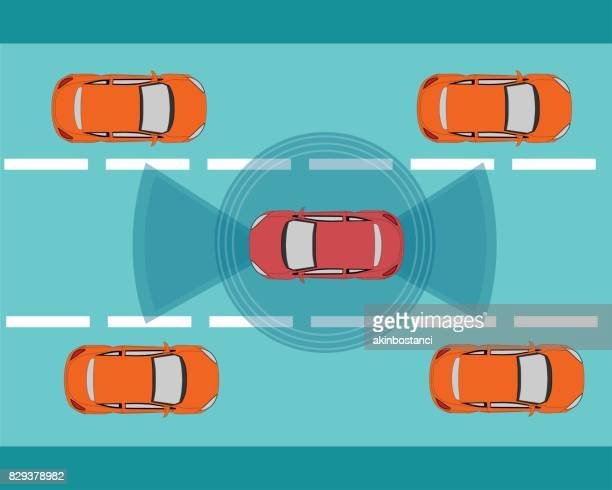 Autonomous, Self Driving, Driverless Car Illustration