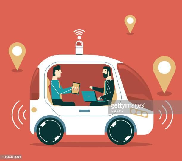 autonomous self-driving car - runaway vehicle stock illustrations, clip art, cartoons, & icons