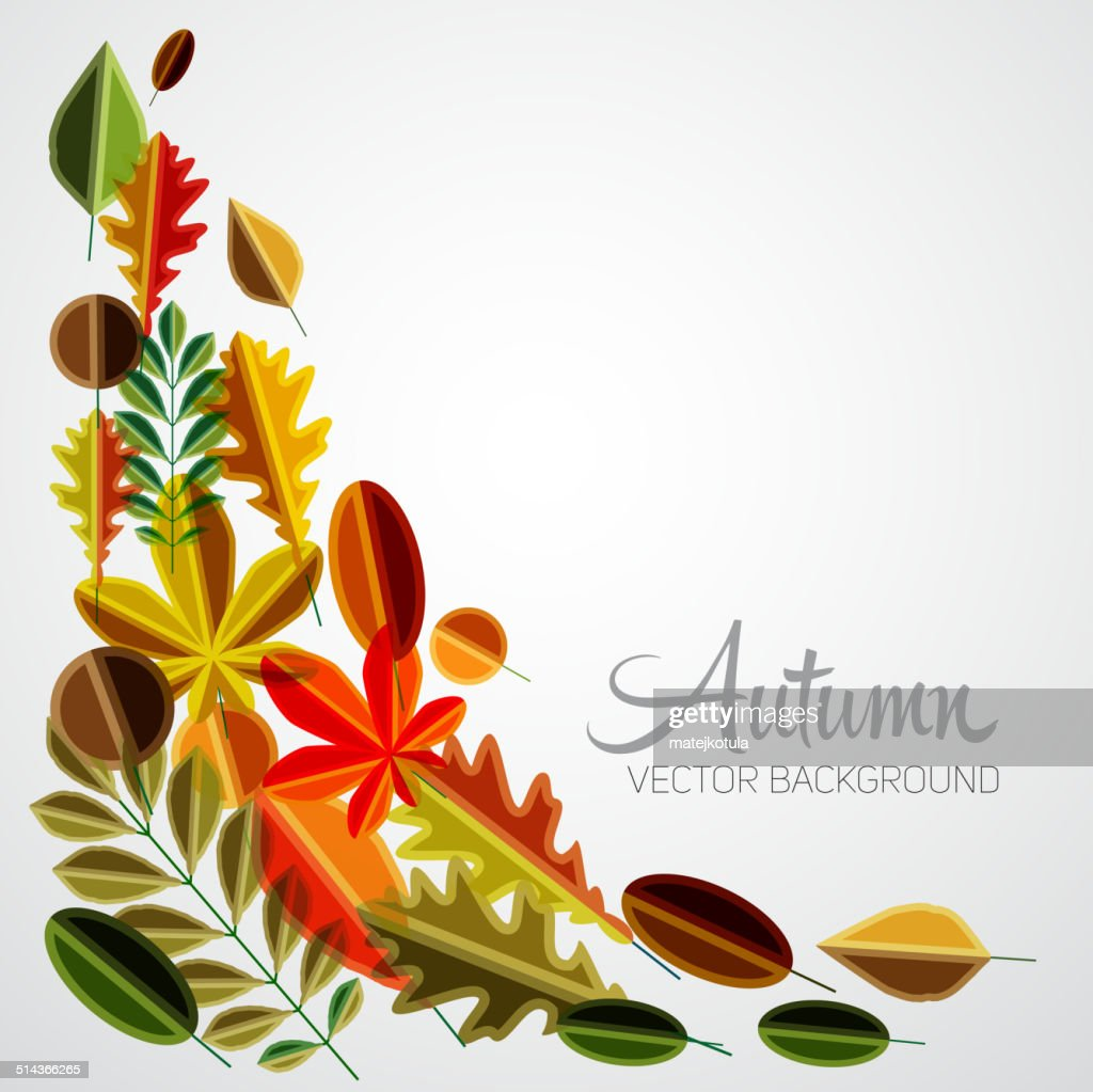 Autumn abstract floral background pattern, Colorful vector