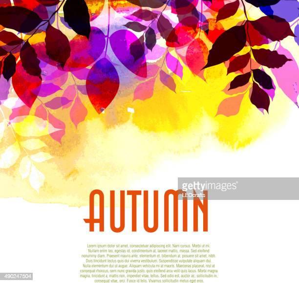 autumn background - september stock illustrations