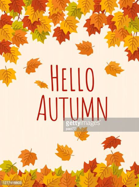 autumn background with falling leaves - september stock illustrations