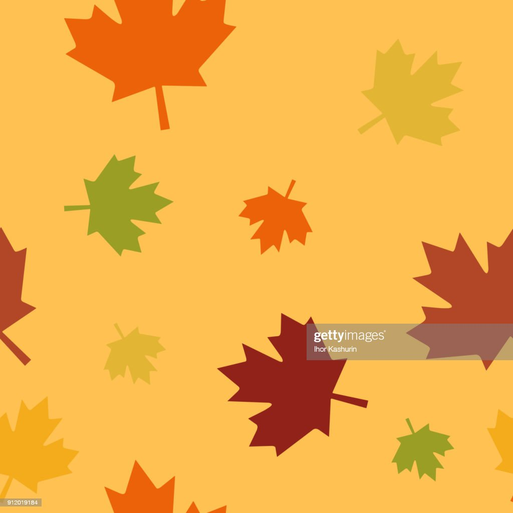 Autumn background with leaves seamles