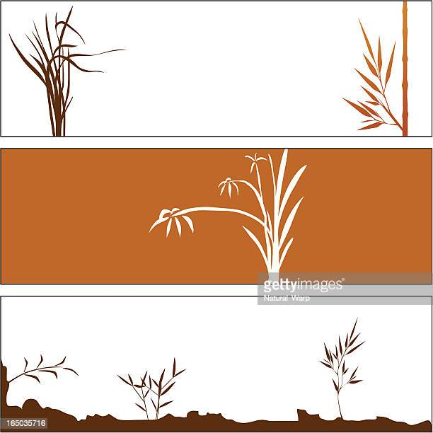 autumn bamboo elements - osaka prefecture stock illustrations, clip art, cartoons, & icons