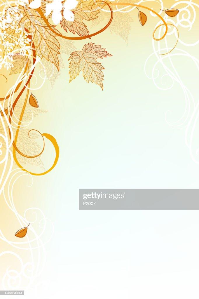 秋の植物を背景 : ベクトルアート