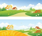 Autumn country banners