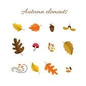 Autumn elements set