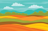autumn fall colorful cute fields landscape background