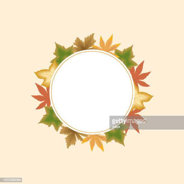 autumn, fall leaves, background, banner and frame - gift tag note stock illustrations, clip art, cartoons, & icons