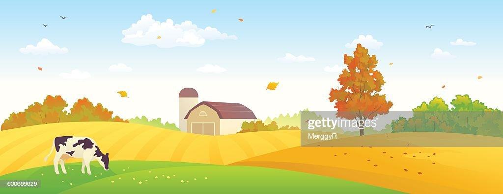 Autumn farm banner