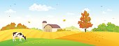 Autumn farm banner